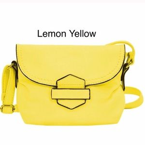 Handbags - Yellow Soft Faux Leather Crossbody